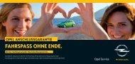 Die Verlängerung der Opel Anschlussgarantie