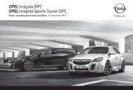 Opel Insignia OPC Preisliste MY 14