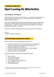 Opel Leasing für Mitarbeiter.