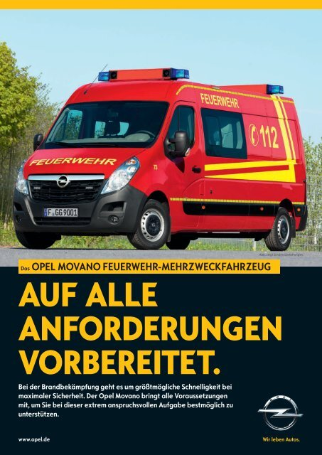 Opel Movano Feuerwehr-Mehrzweckfahrzeug