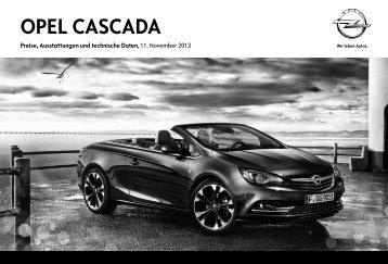 Opel Cascada Preisliste