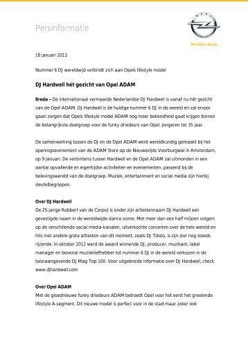 Lees het volledige persbericht. - Opel Nederland