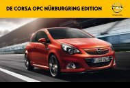 De Corsa oPC NürburgriNg eDitioN - Opel Nederland