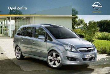Brochure Opel Zafira - Opel Nederland