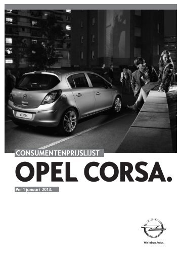 CONSUMENTENPRIJSLIJST - Opel Nederland