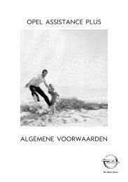ALGEMENE VOORWAARDEN OPEL ... - Opel Nederland