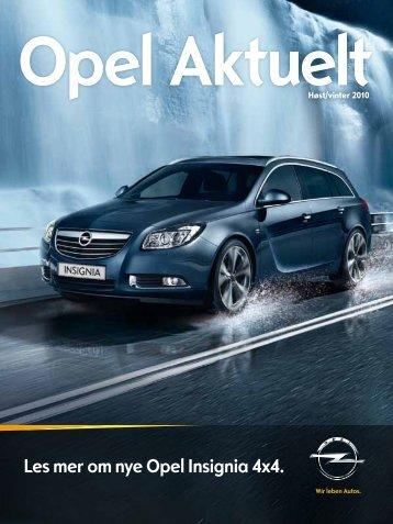 Les mer om nye Opel Insignia 4x4. - Opel Norge