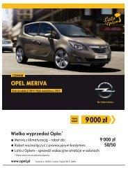 Opel Meriva ceny 2011 - Opel Meriva cennik 2011 ... - Opel Polska