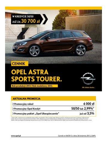 Rok produkcji 2013 - Opel Polska