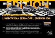 Opel - Limitowana seria Opel Edition 150 - Opel Polska