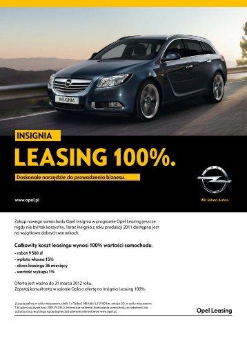 Oferta leasingu 100% na Opla Insignię z rocznika 2011 - Opel Polska