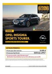 Rok modelowy 2013 - Opel Polska