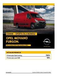 Cennik Movano Furgon - Oferta dla biznesu RP13 - Opel Polska