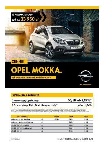 Opel Mokka ceny 2013 - Opel Polska