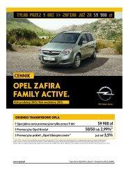 Opel Zafira Family Active ceny 2013 - Opel Zafira ... - Opel Polska