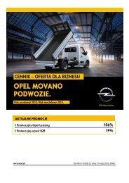 Cennik Movano Podwozie - Oferta dla biznesu RP13 - Opel Polska