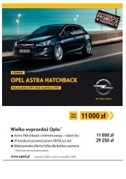Opel Astra hatchback cennik 2011 - Rok modelowy ... - Opel Polska