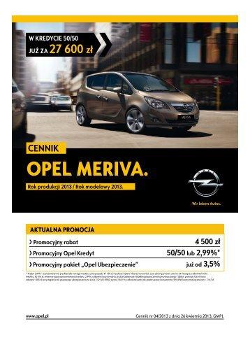 Opel Meriva ceny 2013 - Opel Meriva cennik 2013 ... - Opel Polska