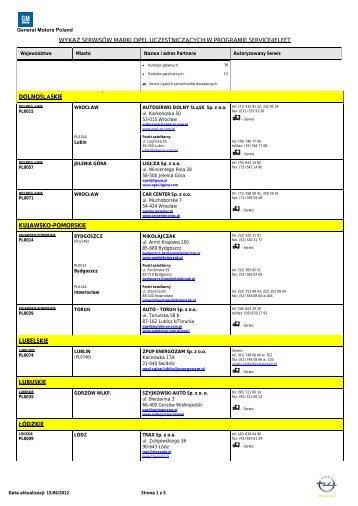 Usługi serwisowe Opel - Service4Fleet, Service 4 ... - Opel Polska