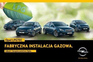 Opel LPG - Gama modeli Opel LPGTEC - Opel z ... - Opel Polska