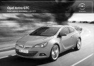 Noul GTC Astra lista de preţuri - Opel