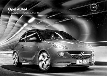 ADAM listă de prețuri - Opel
