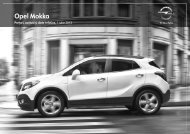 Mokka listă de prețuri - Opel