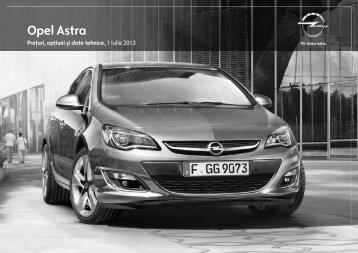 Noul Astra lista de preţuri - Opel