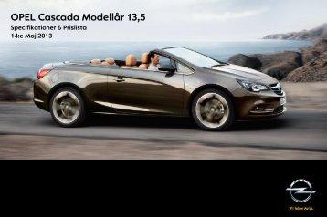 Priser och tekniska data - Opel