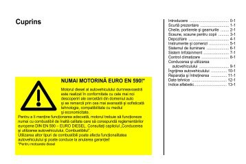 Manual Zafira - Opel