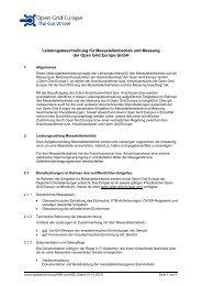 Leistungsbeschreibung für Messstellenbetrieb und Messung der ...