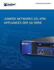 Juniper Networks SA Series SSL VPN Appliances - Indevis