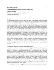 Gli effetti dell'inquinamento atmosferico sulla salute - Legambiente ...