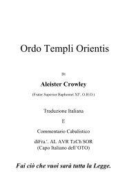 Aleister Crowley - Il Labirinto Magico