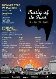 Freitag 20. Mai 2011 Donnerstag 19. Mai 2011