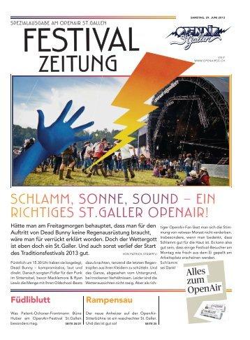 Festival-Zeitung_2013 - OpenAir St.Gallen