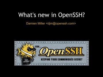 What's new in OpenSSH? - OpenBSD