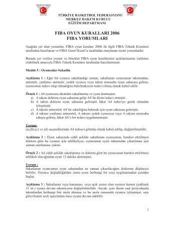 FIBA Yorumları 2006 - Türkiye Basketbol Federasyonu