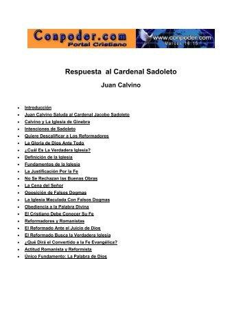 Respuesta al Cardenal Sadoleto – Juan Calvino - OpenDrive