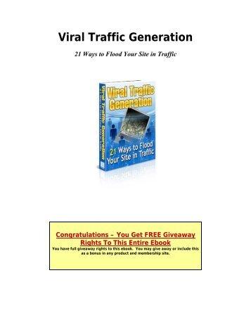 Viral Traffic Generation - OpenDrive