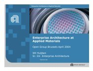 Enterprise Architecture at Applied Materials - The Open Group