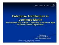 Enterprise Architecture in Lockheed Martin - The Open Group