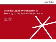 Business Capability Management - The Open Group