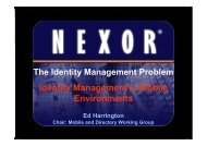 Identity Management in Mobile Environments - The Open Group