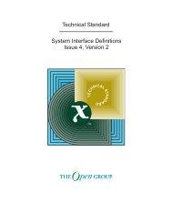 Technical Standard System Interface Definitions ... - The Open Group