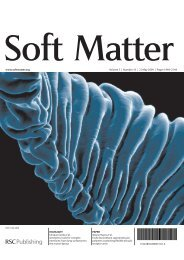 www.softmatter.org Volume 5   Number 10   21 May 2009   Pages ...