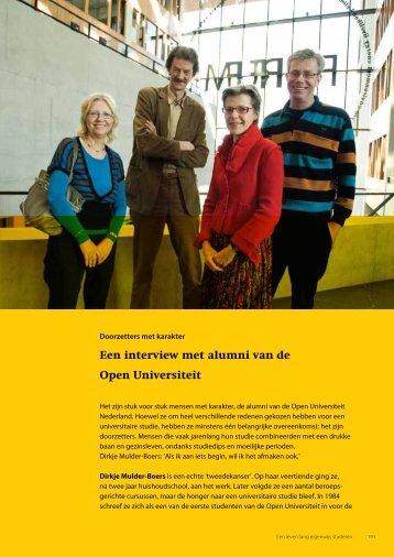 Een interview met alumni van de Open Universiteit