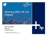 Working With HP-UX Depots - OpenMPE