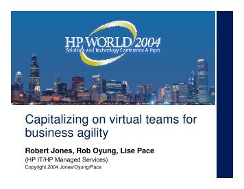 Capitalizing on virtual teams for business agility - OpenMPE