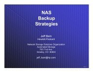 (NAS) Backup Strategies and Future - OpenMPE